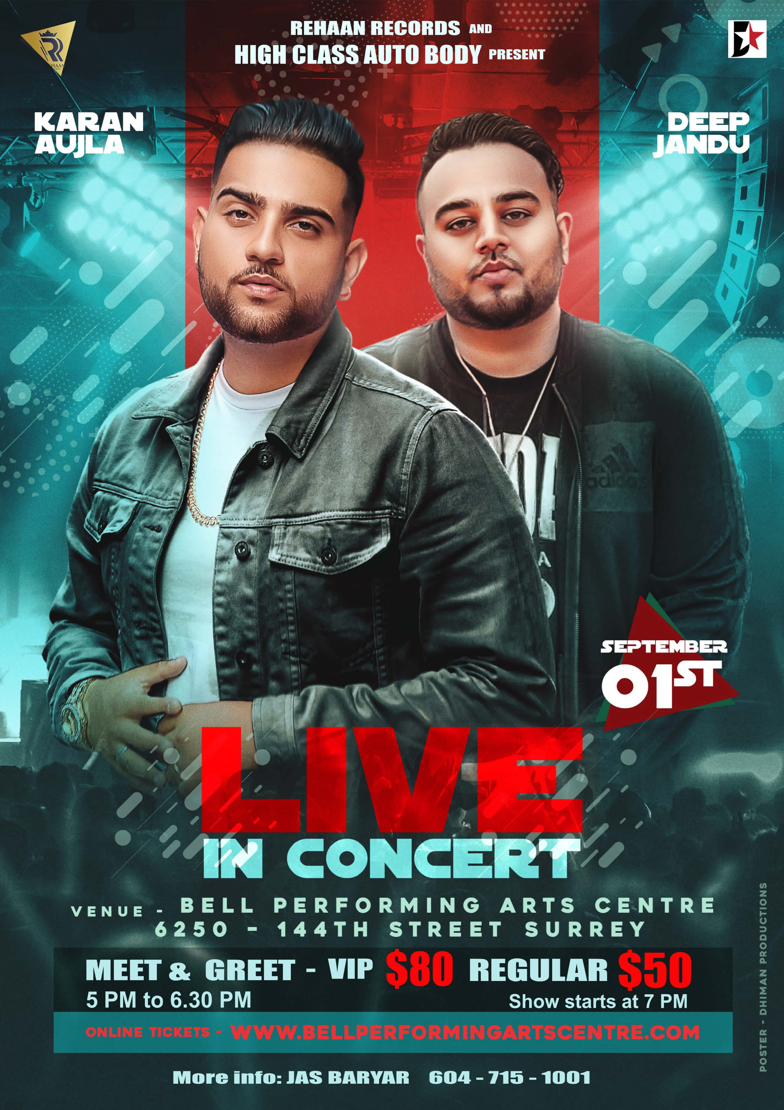 Karan Aujla and Deep Jandu poster Surrey